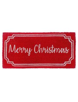 """""""Merry Christmas"""" Red Coir Doormat, 22"""" X 47""""""""Merry Christmas"""" Red Coir Doormat, 22"""" X 47"""" by At Home"""