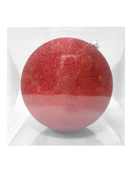 200 Mm. Red Glitter Ornament200 Mm. Red Glitter Ornament by At Home