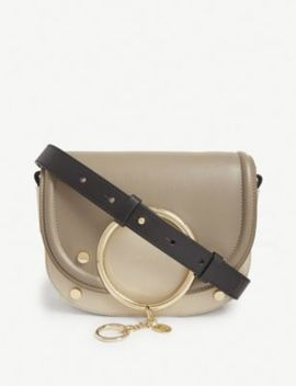 Mara Leather Crossbody Saddle Bag by See By Chloe