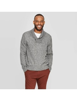 Men's Casual Fit Mock Collar Long Sleeve Shawl Pullover Sweater   Goodfellow & Co™ by Goodfellow & Co