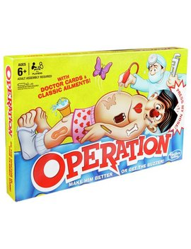Classic Operation Game From Hasbro Gaming390/0059 by Argos