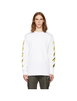 Ssense Exclusive White & Yellow Acrylic Arrows Long Sleeve T Shirt by Off White