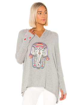 Wilma Sweatshirt In Heather Grey by Lauren Moshi