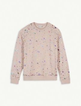 Metallic Dot And Sequin Sweatshirt 4 15 Years by Stella Mccartney