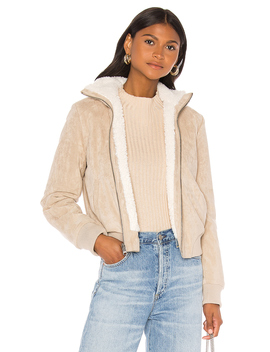 Kendal Reversible Faux Suede With Sherpa Flight Jacket by Cupcakes And Cashmere
