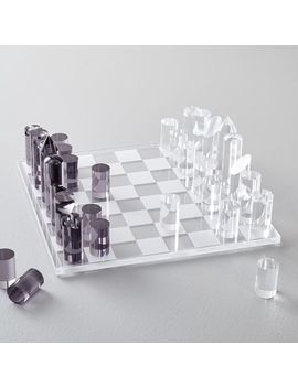 Acrylic Chess by West Elm