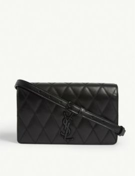 Kate Lizard Embossed Leather Shoulder Bag by Saint Laurent