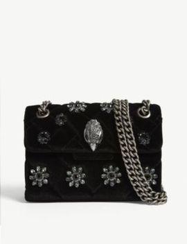 Kensington Mini Velvet Cross Body Bag by Kurt Geiger London
