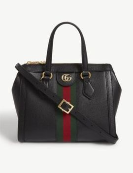 Ophidia Webbing Panel Leather Shoulder Bag by Gucci