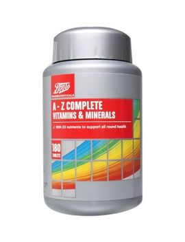 Boots A   Z Complete Vitamins & Minerals   180 Tablets   6 Month Supply by Boots Pharmaceuticals