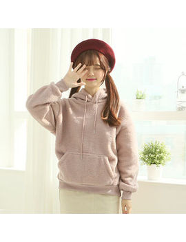 Sechuna   Kangaroo Pocket Teddy Hoodie by Sechuna