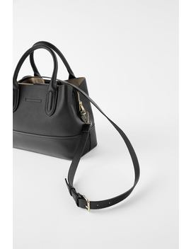Soft City Bag With Hammered Effect by Zara