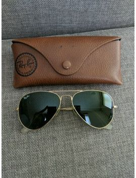Ray Ban Aviator Rb3025 Sunglasses Gold / Green 55/14 by Ebay Seller