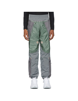 Grey Nrg Ispa Adjustable Track Pants by Nike