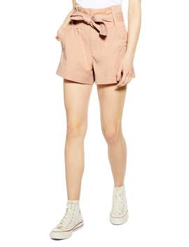 Paperbag Utility Shorts by Topshop
