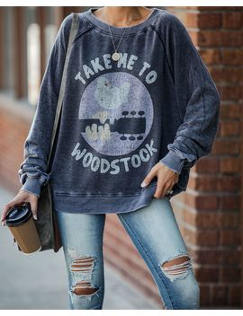 Take Me To Woodstock Relaxed Pullover by Vici