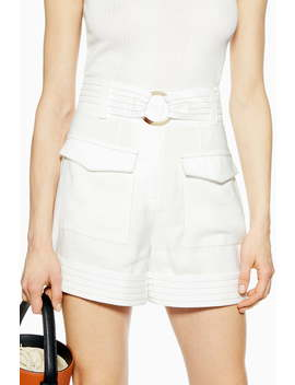Betty Satin Utility Shorts by Topshop