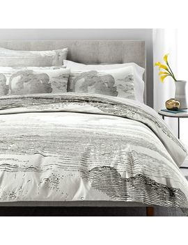 Organic Percale Etched Clouds Duvet Cover + Shams by West Elm