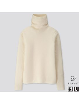 Damen U Rollkragenpullover Aus Premium Lammwolle (9) by Uniqlo