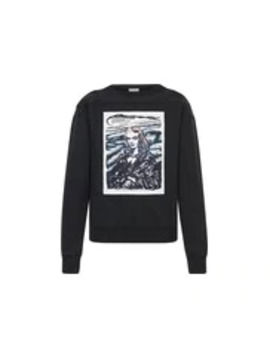 Sweatshirt Aus Baumwolle Mit Dior And Raymond Pettibon Patch by Dior