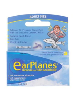 Earplanes Single Flight Ear Discomfort Relief Earplugs by Superdrug