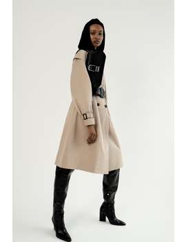 Double Breasted Trench Coat With Belt by Zara