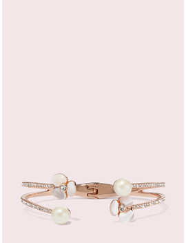Disco Pansy Double Cuff by Kate Spade