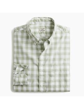 Slim Stretch Secret Wash Shirt In Heathered Gingham by J.Crew