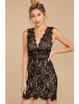 Better For It Black Lace Dress by Just Me