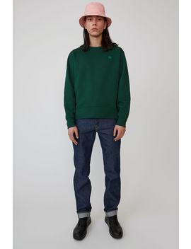 Sweatshirt à Coupe Droite Vert Foncé by Acne Studios
