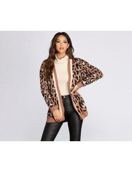 Cozy Leopard Print Caridgan by Windsor