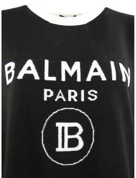 Balmain Black Wool And Cashmere Blend Jumper by Balmain