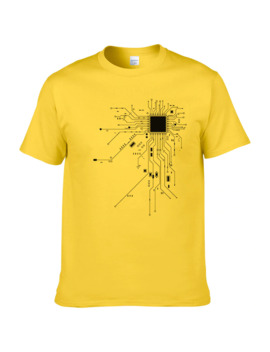 Computer Cpu Core Heart T Shirt Men's Geek Nerd Freak Hacker Pc Gamer Tee Summer Short Sleeve Cotton T Shirt Euro Size #303 by Ali Express.Com