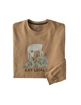 Patagonia Men's Long Sleeved Eat Local Goat Responsibili Tee® by Patagonia