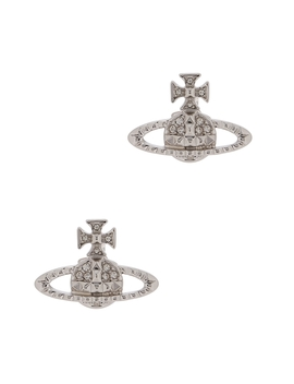 Mayfair Bas Relief Silver Tone Orb Earrings by Vivienne Westwood