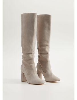 "<Font Style=""Vertical Align: Inherit;""><Font Style=""Vertical Align: Inherit;"">High Leather Boots</Font></Font> by Mango"