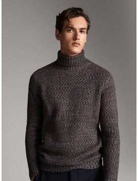 Limited Edition High Neck Knit Sweater by Massimo Dutti