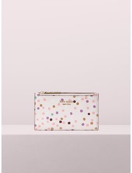 Sylvia Disco Dots Small Slim Bifold Wallet by Kate Spade