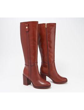 Franco Sarto Wide Calf Leather Tall Shaft Boots   Kendra by Franco Sarto