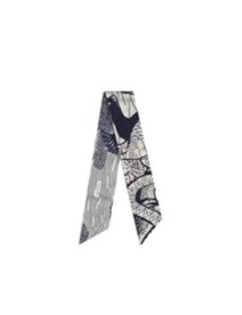 Indigo Blue Dior Wax Toile De Jouy Sauvage And Tropicalia Cotton Reversible Headband by Dior