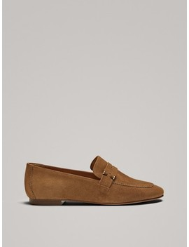 Penny Loafers With Metal AppliquÉs by Massimo Dutti