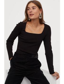 Figurnahes Jerseyshirt by H&M