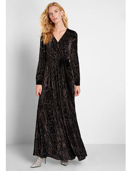 Timeless Touch Velvet Maxi Dress by Modcloth