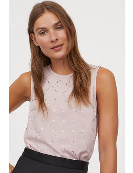 Sleeveless Sparkly Stone Top by H&M