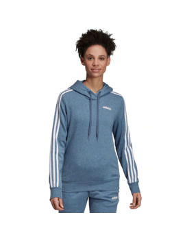 Women's Adidas 3 Stripe Fleece Hoodie by Adidas