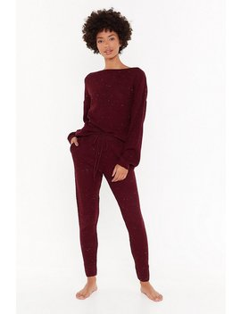 Just How We Like Knit Jumper And Joggers Lounge Set by Nasty Gal