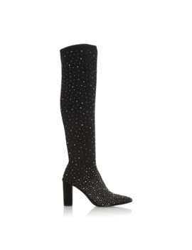 Starlight Knee High Diamante Sock Boots by Dune