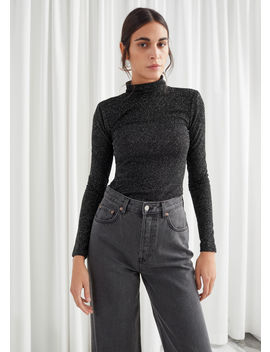 Fitted Turtleneck Glitter Sweater by & Other Stories