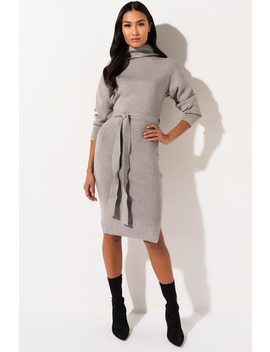 Never Going Home Long Sleeve Midi Dress by Akira