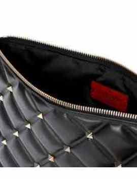 Valentino Garavani Candystud Leather Clutch by Valentino